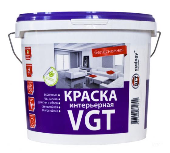 Белоснежная краска ВД-АК 2180 интерьерная  влагостойкая 3кг ВГТ(4шт)