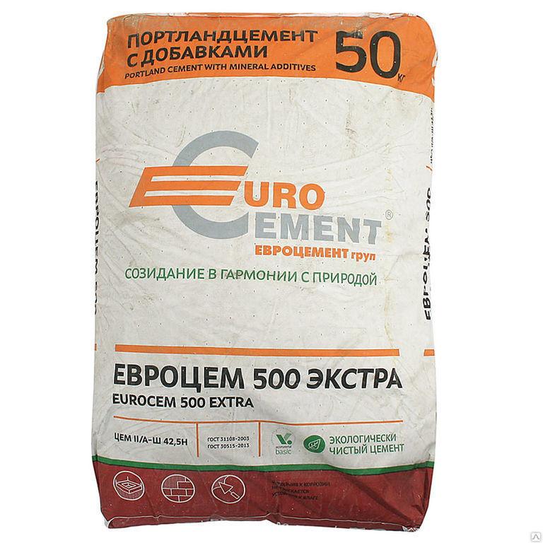 Цемент-Евро М500 Д20 Черкесский 50 кг