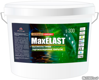 Гидроизоляционное покрытие MaxELAST AKRIMAX 3 кг