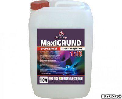 Грунтовка глубокого проникновения MaxiGRUND Proff (розовая) концентрат 1л