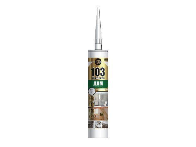 Клей-герметик POINT 103 Дом (290мл) (12шт) белый