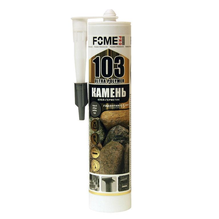 Клей-герметик POINT 103 Камень (290мл) (12шт) серый