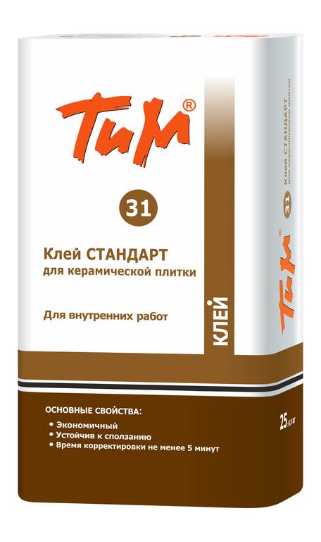 Клей СТАНДАРТ ТиМ № 31 для керамической плитки