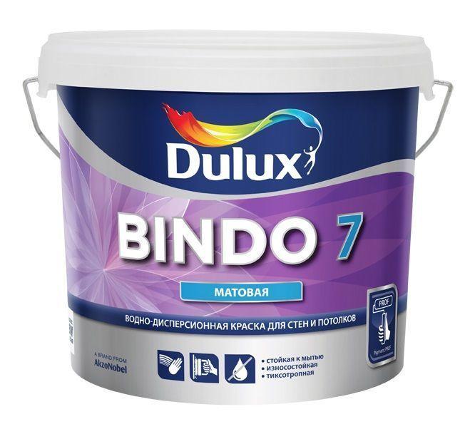 Краска БИНДО 7 для стен и потолков матовая база BW(1л)