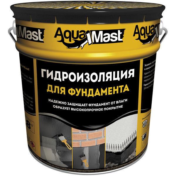 Мастика Аквамаст битумная фундамент 18 кг