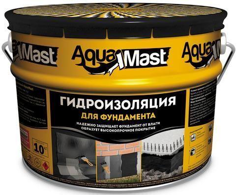 Мастика Аквамаст битумная фундамент 3 кг