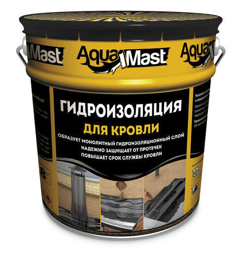 Мастика Аквамаст кровля 3 кг битумно-резиновая