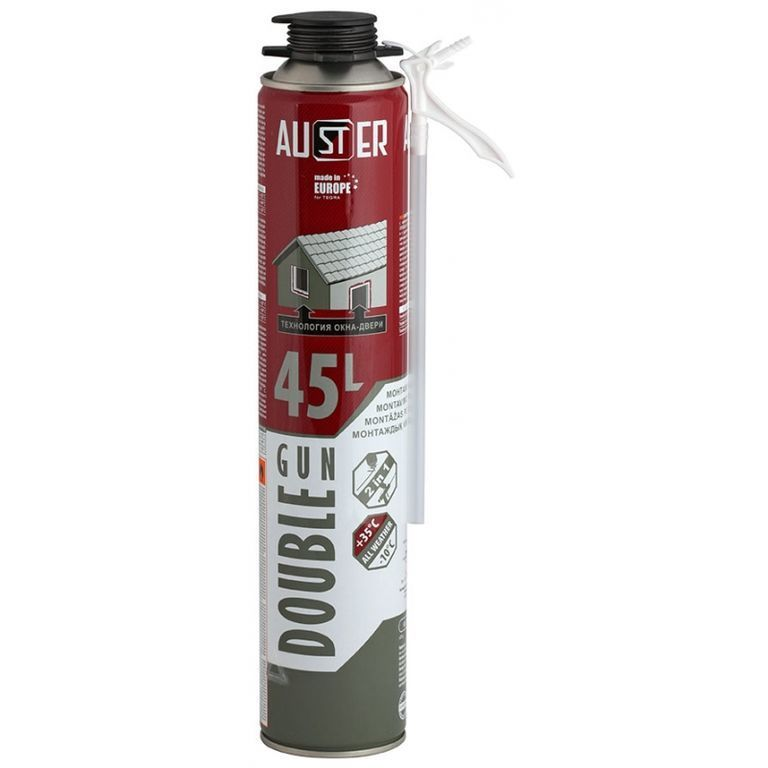 Пена монтажная Auster Double GUN 45 л 840 гр