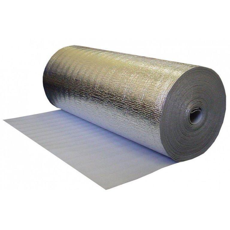 Основа под теплый пол SDM , металлизированная 3мм 1м*5м