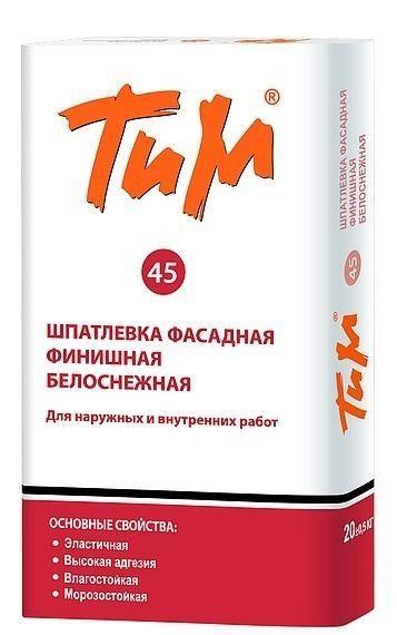 Шпатлевка финишная фасадная белая ТиМ №45 20кг