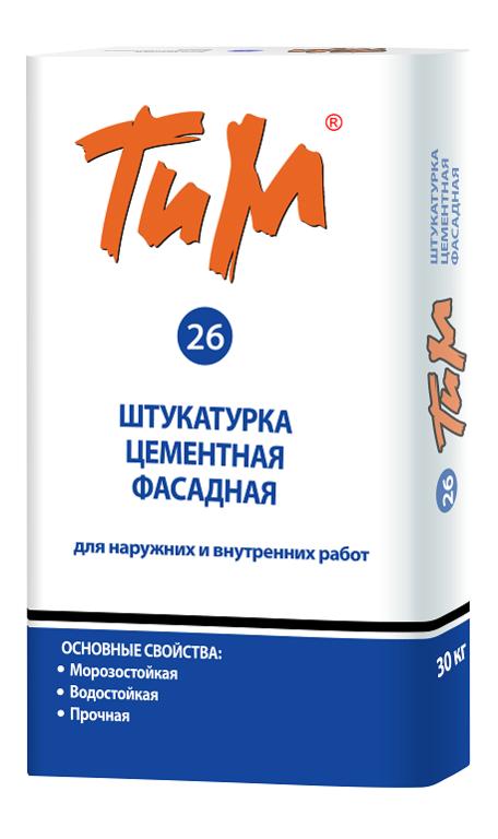 Штукатурка цементная фасадная ТиМ №26
