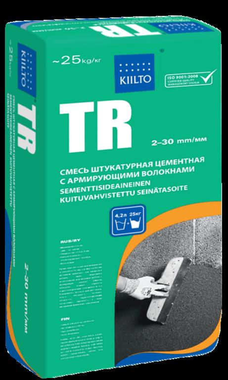 Штукатурка цементная Kiilto TR (универсальная) с армирующими волокнами