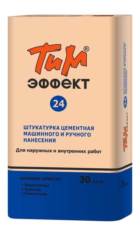 Штукатурка цементная машинного и ручного нанесения ТиМ-ЭФФЕКТ №24
