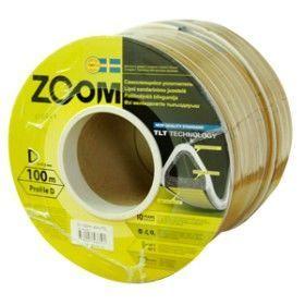 Уплотнитель резиновый ZOOM D-профиль серый 9х7,5мм (100м)