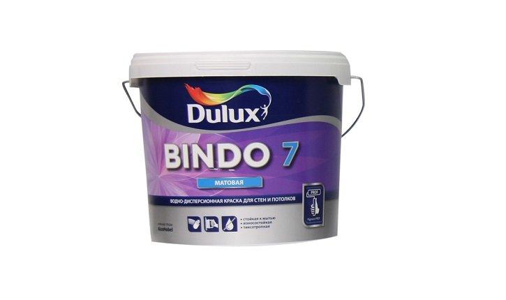 Краска БИНДО 7 для стен и потолков матовая  база BW(4,5л)