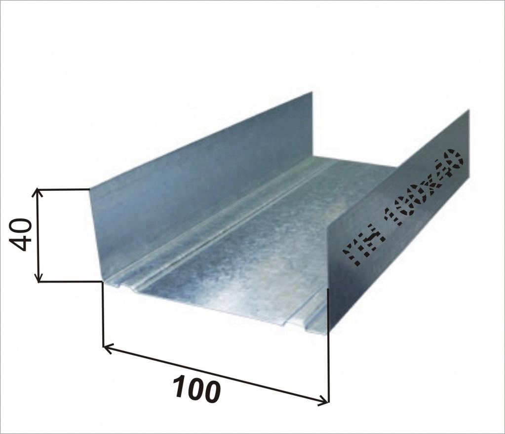 Профиль направляющий 100х40 профи-2 0,5мм