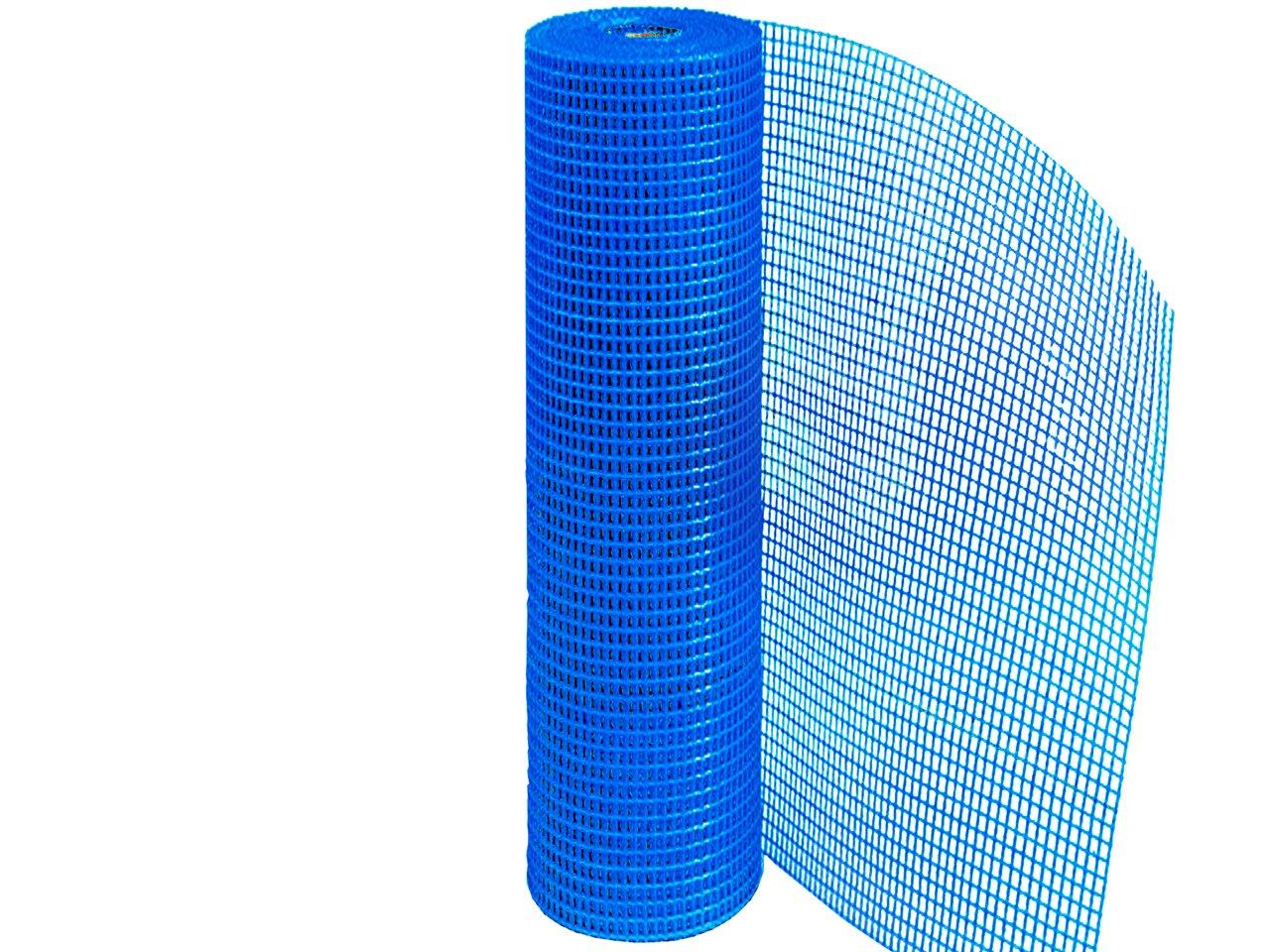 Сетка фасадная синяя 160 гр 50 м2